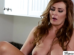 College babe Kimmy licks and fingers her moms pussy