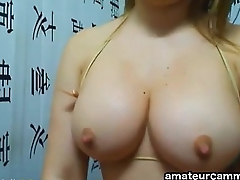 Sexy Latina with big boobs fucking with Dildo on Cam - http://amateurcammers.com