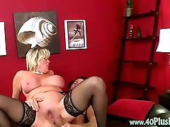 Mature Blonde Takes A Big Cock
