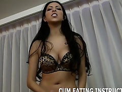 Eat your cum when you finish jerking off CEI
