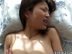 Asian slut has a fuck deep in her wet pussy pie