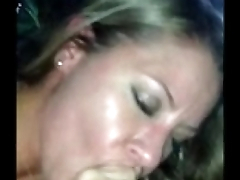 Amateur Blonde milf sucks BBC