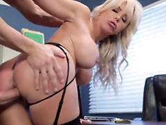 Nina Elle - The boss' Naughty wife gets a load of jizz served forth her cunt
