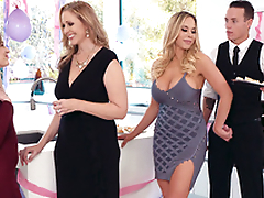 Goddess Olivia Austin seduces Julia Ann's stepson behind her back