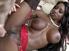 Ebony mom Diamond Jackson taking Danny's obese fat cock from the rear