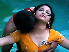 Hot Mamatha romance just about boy friend in swimming pool-1