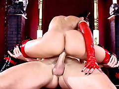 Sinner goes to XXX hell where succubus Rachel Starr rides his penis