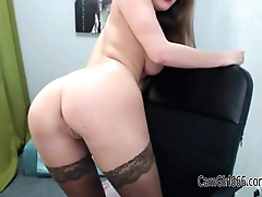 Hot busty babe teasing and ablaze with boobs CamGirl666.com