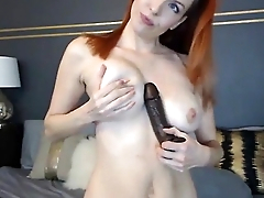 camskiwi.com flawless redhead babe toy fucking wet pussy
