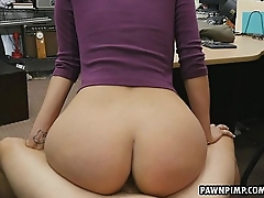 Beautiful brunette gets that pest pawned